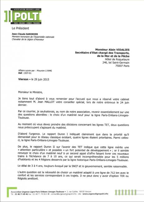 courrier ministre juin 15